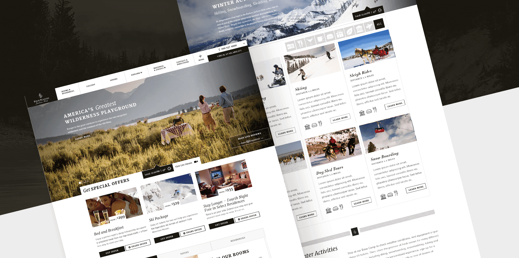Four Seasons Location Lead Generation Landing Page Desktop Concept