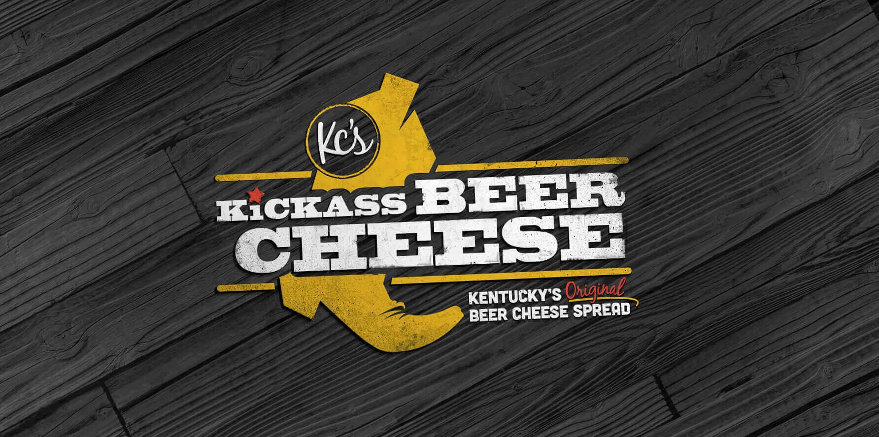 Kc's Kickass Beer Cheese Logo Design