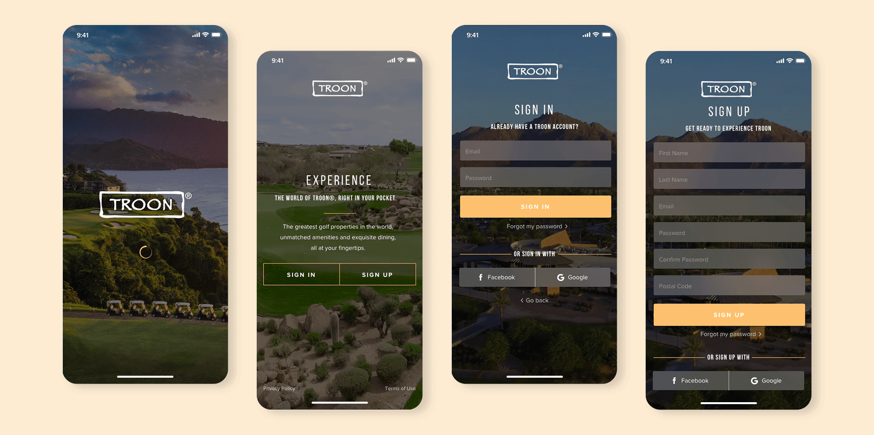 Troon App - Onboarding