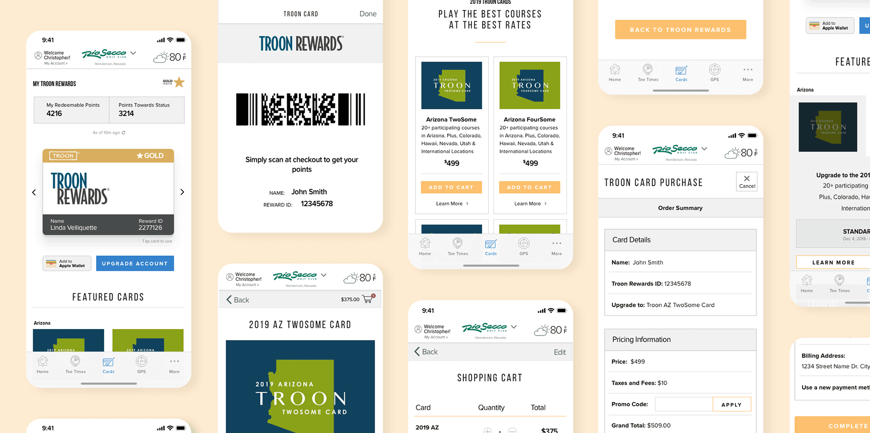 Troon App - Troon Cards