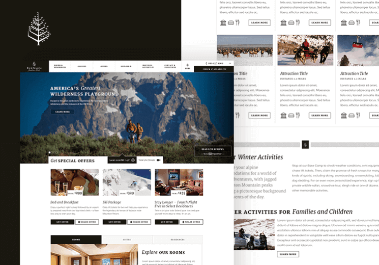 Four Seasons Location Lead Generation Landing Pages Concepts