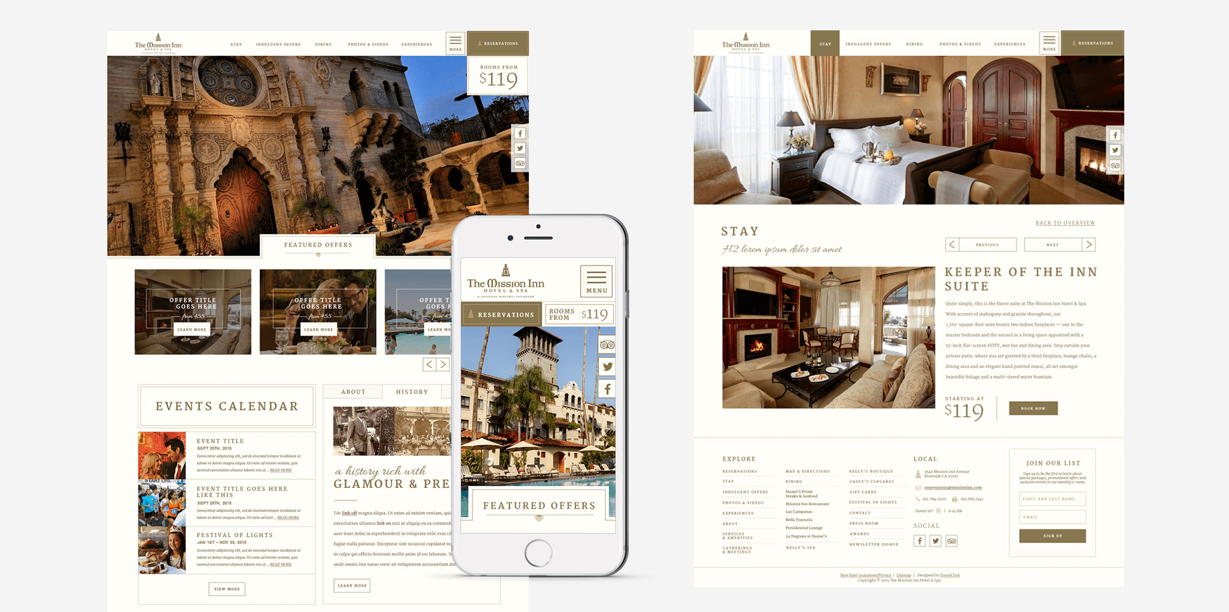 Mission Inn Website Design 1