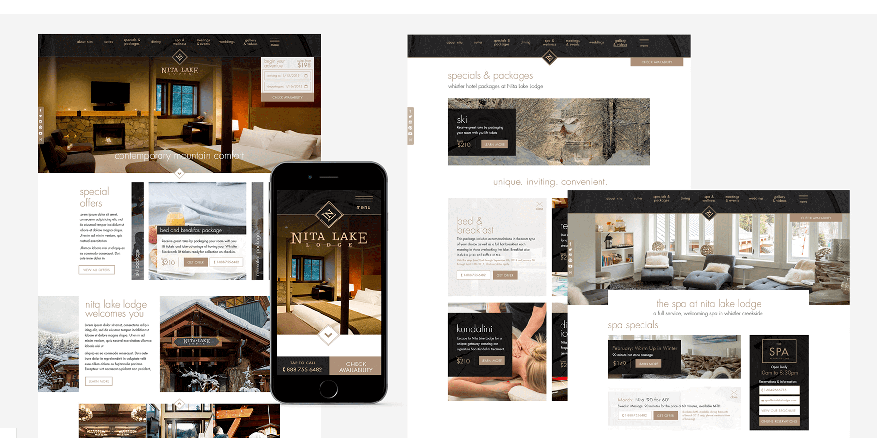 Nita Lake Lodge Website Design 1