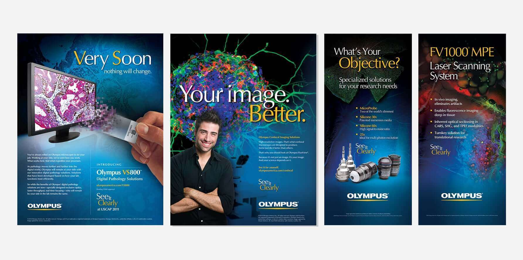 Olympus Print Advertisements and Tradeshow