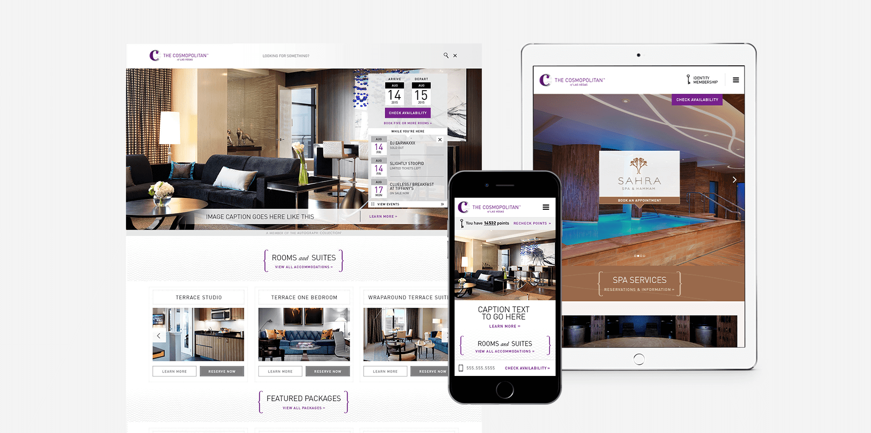 The Cosmopolitan of Las Vegas Website Design 1