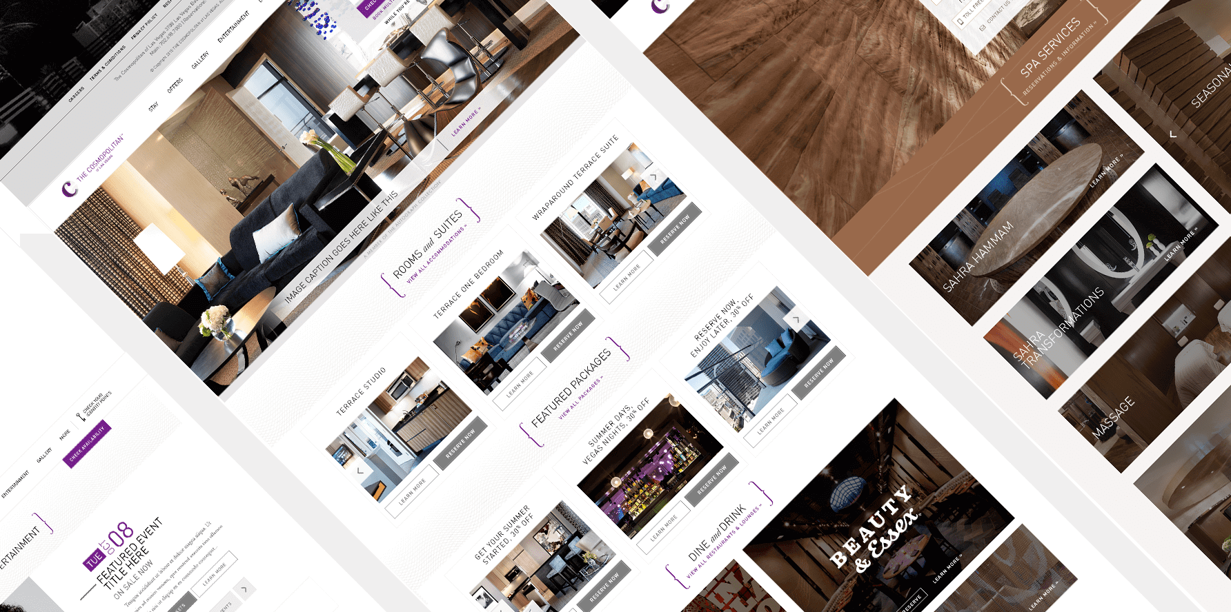The Cosmopolitan of Las Vegas Website Design 2