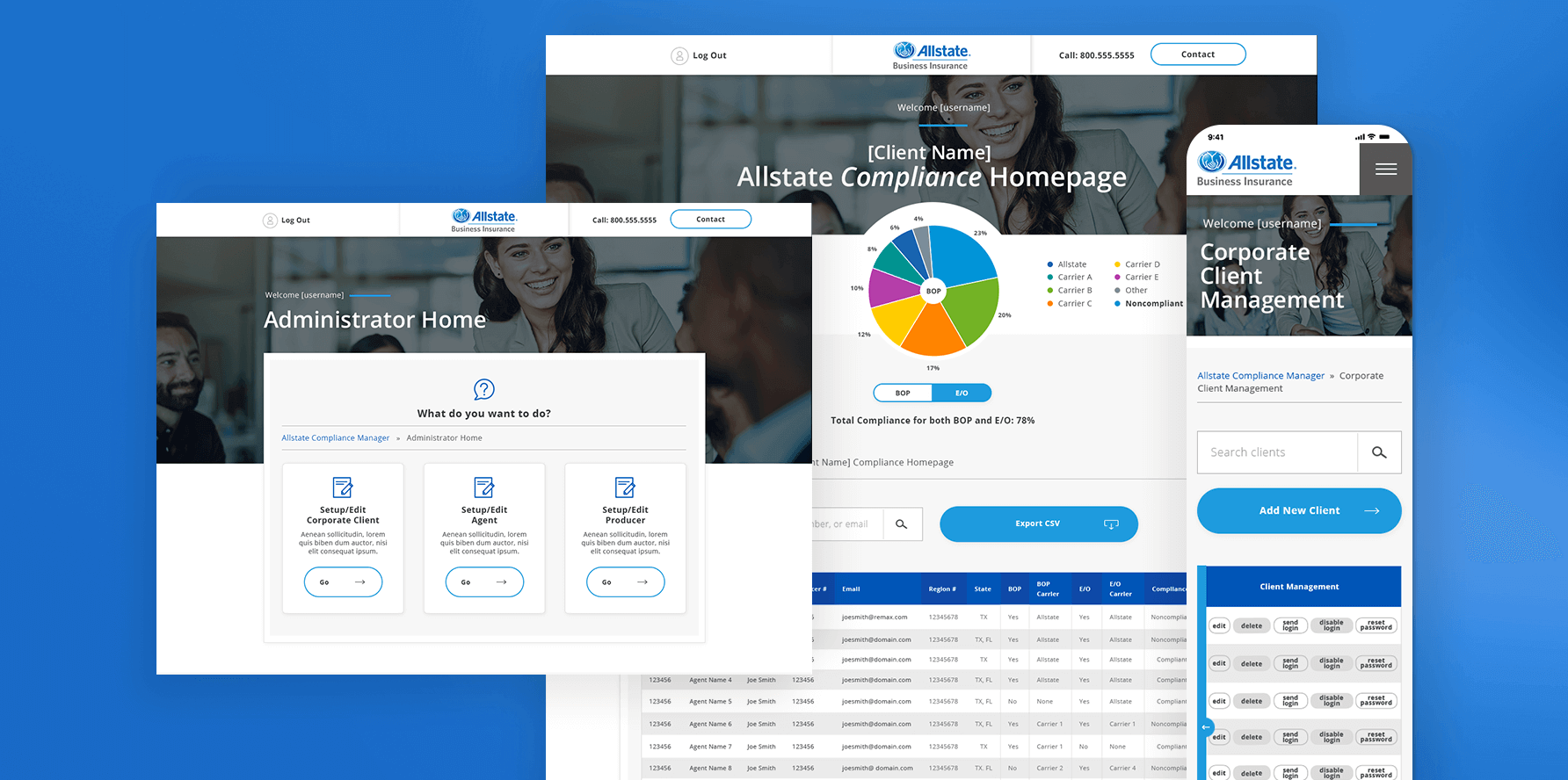 Allstate Producer Portal Web App