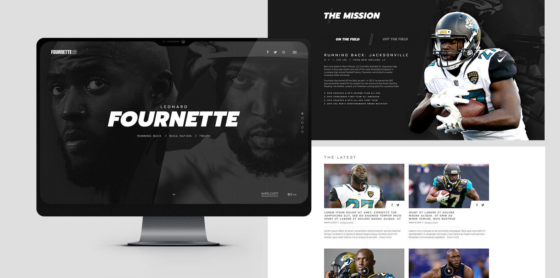 Leonard Fournette Official Website - Desktop